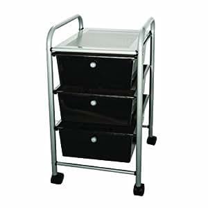 advantus 3 drawer rolling file organizer cart 27 x 15 5 x 13 inches black 34006. Black Bedroom Furniture Sets. Home Design Ideas