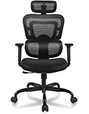 Office Chair FelixKing, Ergonomic Desk Chair with Adjustable Height and High headrest Design Desk Computer Chair with Adjustable Storage armrests for Conference Room