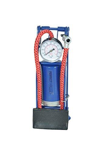 Floor Bike Pump with Gauge , Needle & Adapter - (Foot Inflatable)