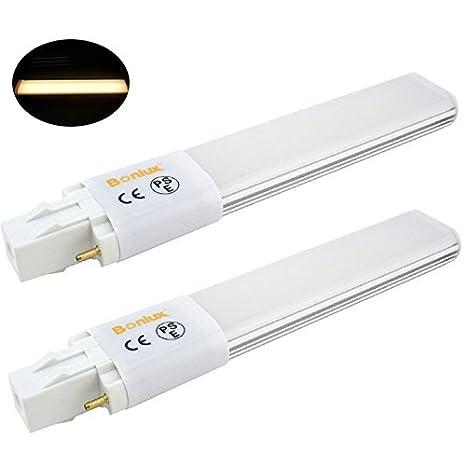 Bonlux 2 pack 6w led gx23 pl lamp gx23d 2 pin base 13w cflcompact bonlux 2 pack 6w led gx23 pl lamp gx23d 2 pin base 13w cfl aloadofball Images