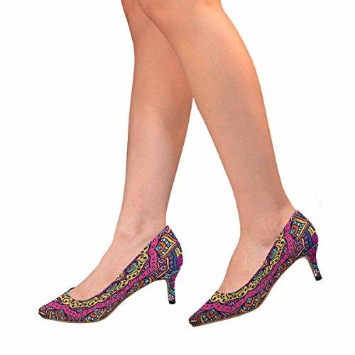 Scarpe Da Donna Low Cost Con Tallone Gattino Scarpe A Punta Aguzza Mandala Multi 1
