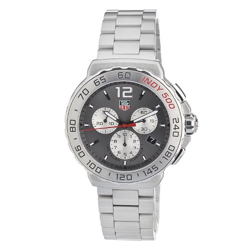 Tag Heuer Men's Cau1113 Ba0858 Quartz Chronograph Grey Dial (Large Image)