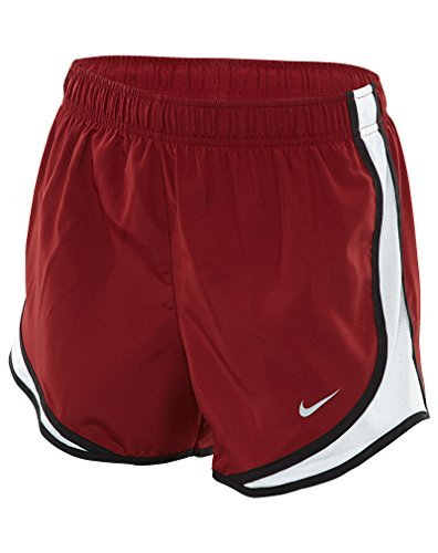 Nike Dry Tempo Short Team Red/White/Black/Wolf Grey Womens (Red Ladies Tempo Shorts)