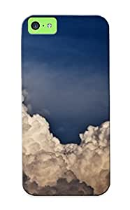 (b5a3b577546)durable Protection Case Cover With Design For Iphone 5c(fluffy Clouds )