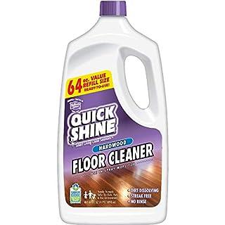 Quick Shine High Traffic Hardwood Floor Cleaner, 64 Fl. Oz, White