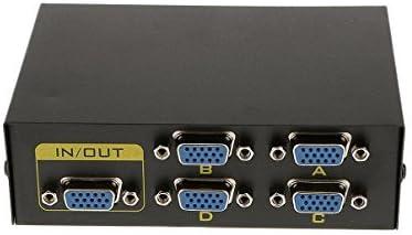 Veroda - Selector de 5 puertos para monitor de TV VGA SVGA XGA de 4 puertos para ordenador LCD PC: Amazon.es: Bricolaje y herramientas