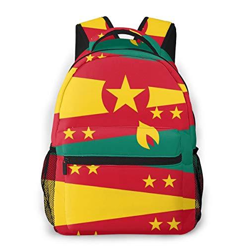 School Backpack Originality Grenada Flag Classic Lightweight Backpack for Men Women College Schoolbag Travel Bookbag