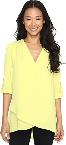 karen-kane-womens-deep-v-wrap-shirt-lime-shirt