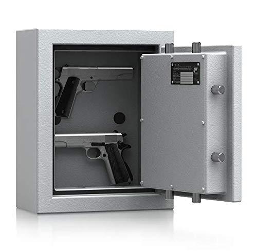 SafeHero-Kurzwaffenschrank-Grad-1-nach-EN-1143-1-Secureo-Hawk-Pistol-Schlsselschloss-H440xB350xT175-mit-Magnet-Waffenhaltern-ECB-S-Zertifikat