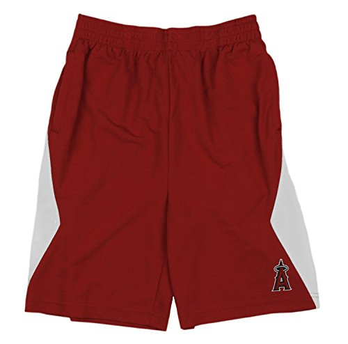 Outerstuff Los Angeles Angels MLB Little Boys and Big Boys Team Shorts - Red (Large ()