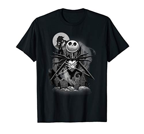 Disney Nightmare Before Christmas Jack Night Scene T-Shirt (Adult Christmas Clothes)