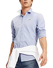 Tommy Jeans Mens Tjm Original Stretch Casual Shirt (pack of 1)