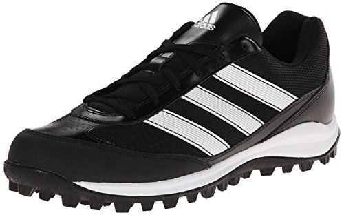 adidas Performance Men's Turf Hog LX Low Football Cleat, Black/White/Black, 9 M US