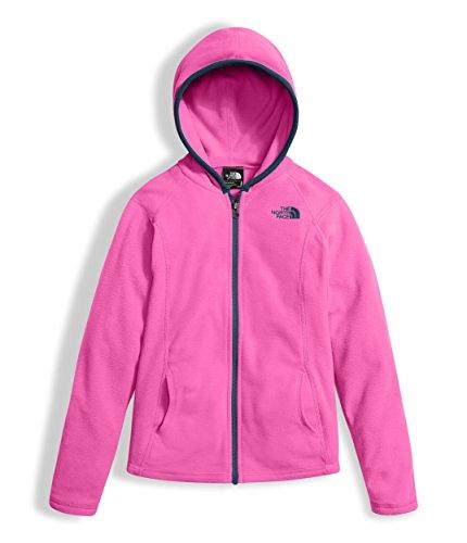 The North Face Girl's Glacier Full Zip Hoodie - Gem Pink - L (Hoodie Princess Fleece)