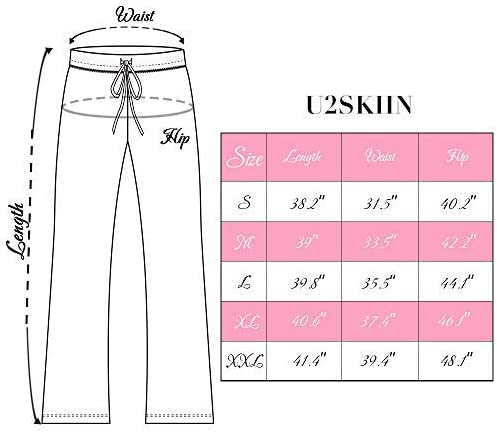 U2SKIIN Cotton Pajama Pants for Women, Lounge Pants Women Lounge Soft Lightweight Pjs