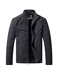 WenVen Men's Casual Military Jacket