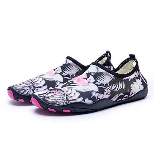 Blankey Water Sportschoenen Sneldrogend Blootvoetse Flexibele Flats Strand Zwemschoenen Voor Mannen Vrouwen Kinderen Bloem 45