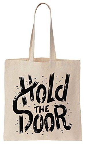 Stylized Compras Tote Door HODOR de Algodón Reutilizables Hold Text de Bag The Bolsos qt64WB