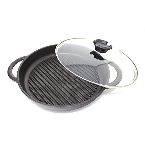 Cookware Cast - Jean Patrique The Whatever Pan - Cast Aluminium Griddle Pan with Glass Lid