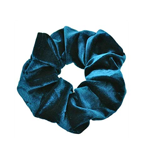 LODDD 10PC Velvet Ponytail Holder Hair Scrunchies Hair Ties Cute Donut Maker Hairbands Women Sky Blue -