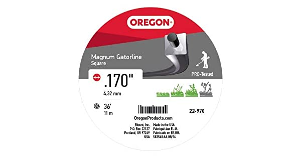 Amazon.com: Oregon 22 – 970 gatorline Heavy-Duty Magnum .170 ...