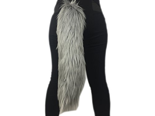 Long Faux Fur Animal Luxury Tail, Cosplay, Anime Lover, Costume Dress Up Pet Play Furry Super Soft Accessory (20