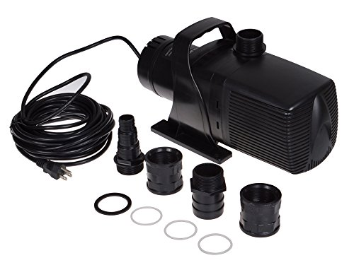 TMS Pond Pump Water Fountain Waterfall Pump 5283 GPH Submersible Fishpond Garden Patio Pool Pump
