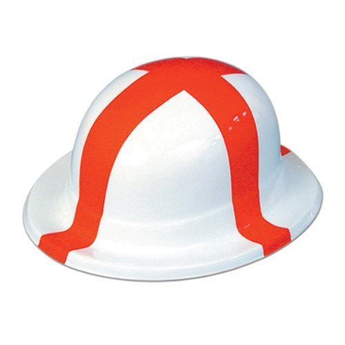 Hat Bowler St George Plastic Cheap for Fancy Dress Party Accessory by (Bowler Hat Cheap)