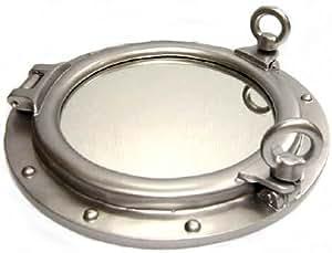 Ojo de buey espejo 30 5 cm plata nautical tropical home for Espejo ojo de buey