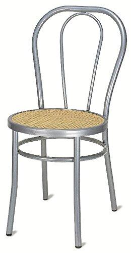 Sedie Bar Alluminio Prezzi.Sedia Vienna Da Tavolo Cucina Bar Bistrot In Alluminio