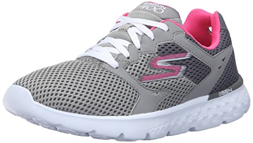 Skechers Performance Women's Go Run 400 Running Shoe,Charcoal/Hot Pink,7.5 M US