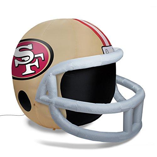 Fabrique Innovations NFL Inflatable Lawn Helmet, San Francisco 49ers]()