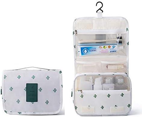 ZSBH 旅行化粧品袋の女性のメイクアップバッグトイレタリーオーガナイザー防水ストレージNeceserのハンギングバスルームウォッシュバッグ (Color : WhiteXian)