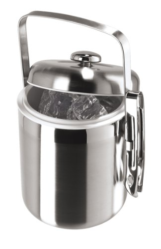 Oggi Galaxy Stainless Two Tone Satin & Mirror Finish Ice Bucket with Tongs