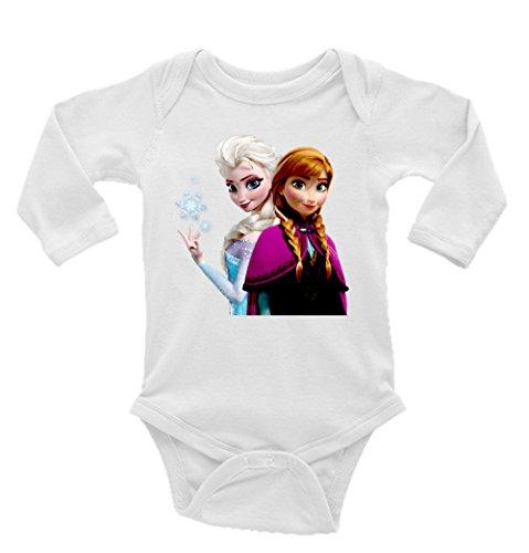 Anna and Elsa Frozen Long Sleeve Unisex Onesie (3-6)]()