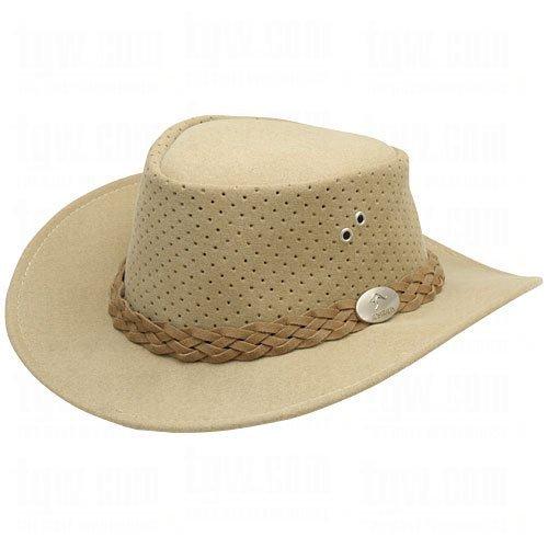 Aussie Chiller Bushie Perforated Hats Beige Large