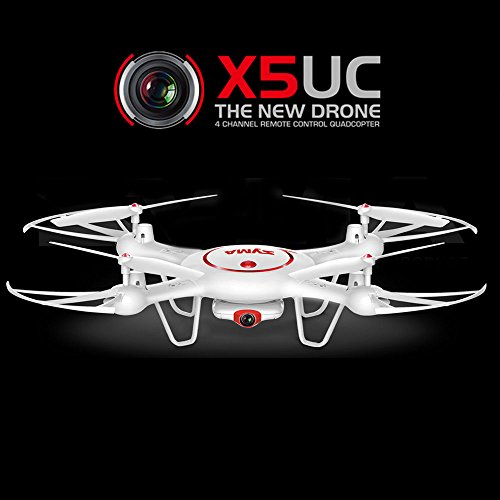 Amazingbuy-Latest-Syma-Drone-X5UC-RC-Quadcopter-24G-4-Channel-6-Axis-Gyro-Hover-FunctionFlip-StuntsHeadless-Mode-HD-CameraBarometer-Set-Height-X5C-X5C-1-Upgraded-New-Version