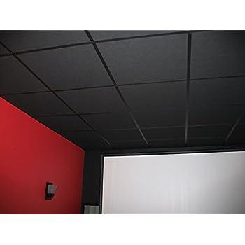 Amazoncom Genesis Stucco Pro Revealed Edge Black Ceiling Tile - 1 x 2 ceiling tiles
