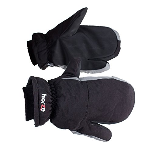 Horze 3 Finger Padded Riding Mittens - Size:Medium Color:Black