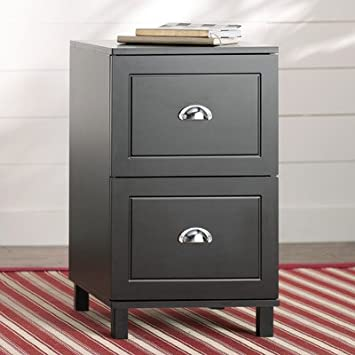 Greylag 2 Drawer Filing Cabinet, Wood And Laminate, Metal Handles, Full  Extension Drawers