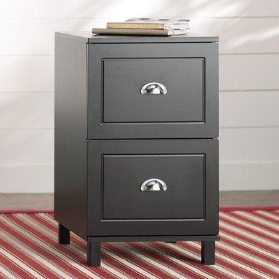 Apariencia 2 cajón archivador, madera y laminado, asas de metal, extensión completa cajones archivadores, color negro: Amazon.es: Oficina y papelería