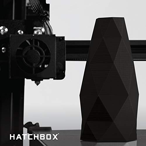 HATCHBOX ABS three-D Printer Filament, Dimensional Accuracy +/- 0.03 mm, 1 kg Spool, 1.75 mm, Black