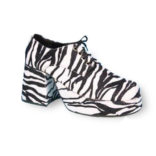 PLEASER - Zebra Platform Adult Shoes - Small (8-9) - Black (Pleaser Shoes On Sale)