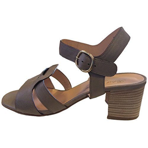 Robert Clergerie Colchic Leather Sandals Mouse/Pale Grey