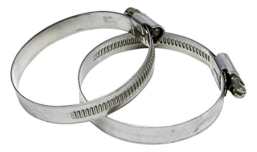 HPS EMSC-90-110x2 Stainless Steel Embossed Hose Clamps SAE 60, 3-1/2