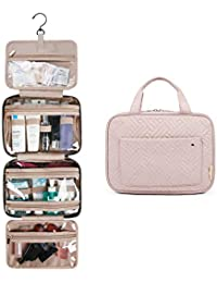 Toiletry Bag Travel Bag with Hanging Hook, Water-resistant Makeup Cosmetic Bag Travel Organizer for Accessories, Shampoo, Full Sized Container, Toiletries