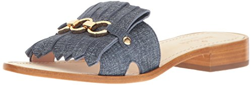 Wooden Slides Sandals (kate spade new york Women's Brie Slide Sandal, Denim Suede, 9 M US)