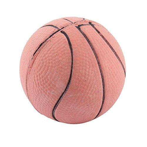 DealMux Rubber Pet Dog Cat Basketball Shaped Training Ball Toy, Brick Red