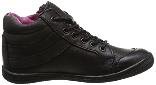 Kickers Cahuette, Mädchen Sneaker Schwarz - Schwarz (8 Noir)