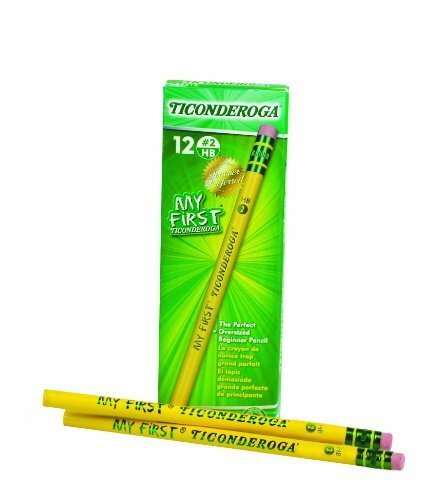 My First Ticonderoga Primary Size #2 Beginner Pencils, Yellow (33312) (144-Pack) (Ticonderoga Beginners Wood Pencil)